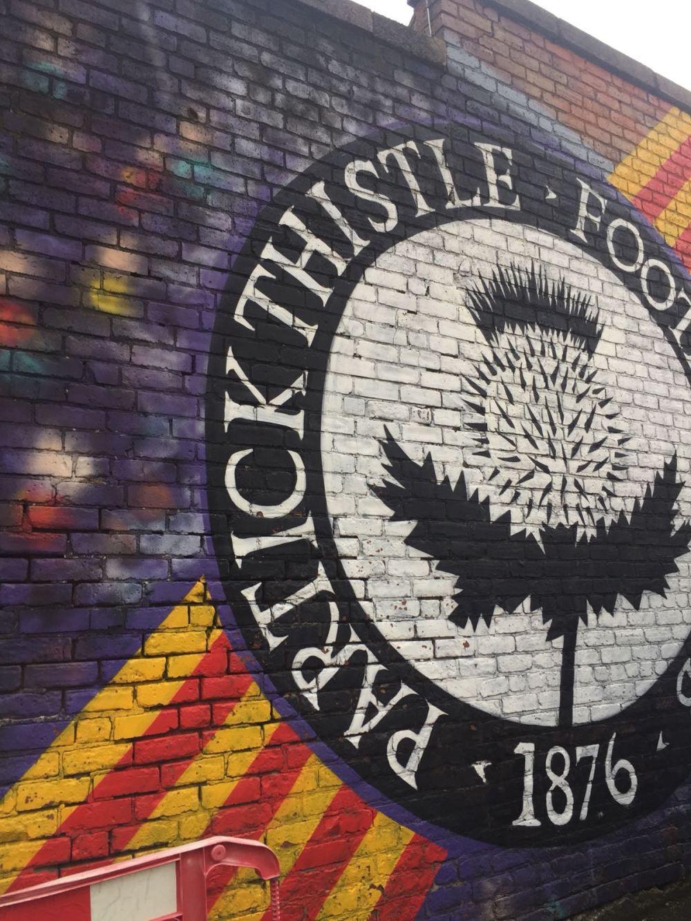 Firhill graffiti