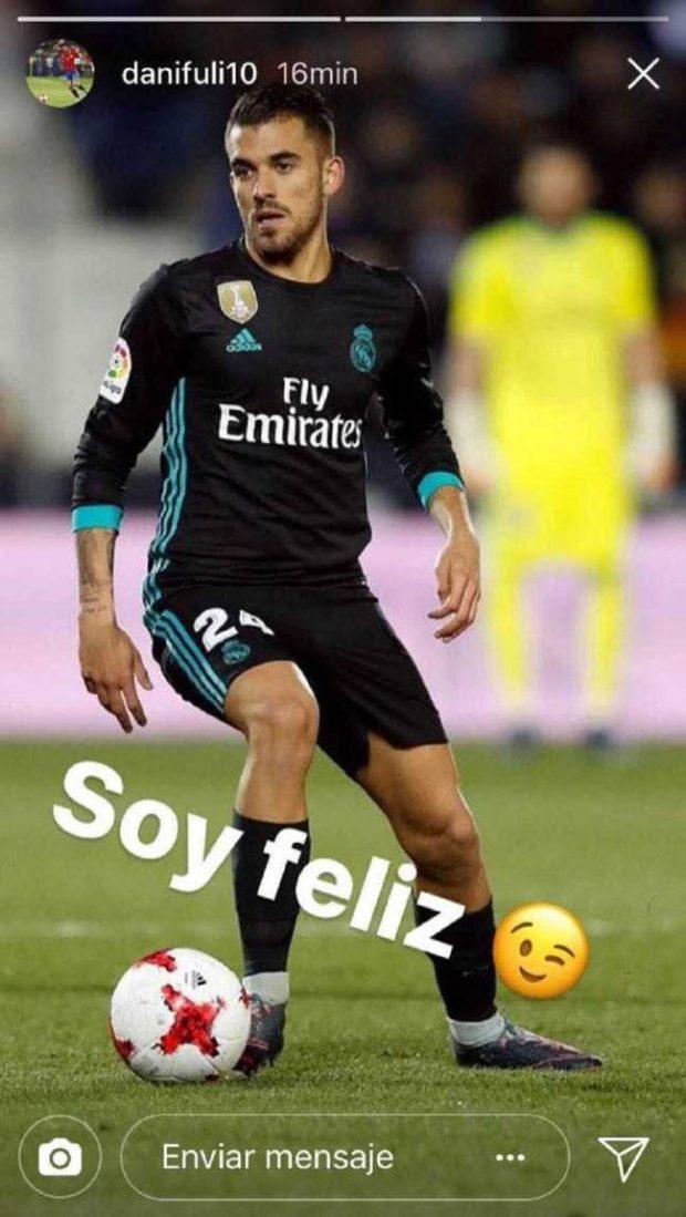 Dani Ceballos happy