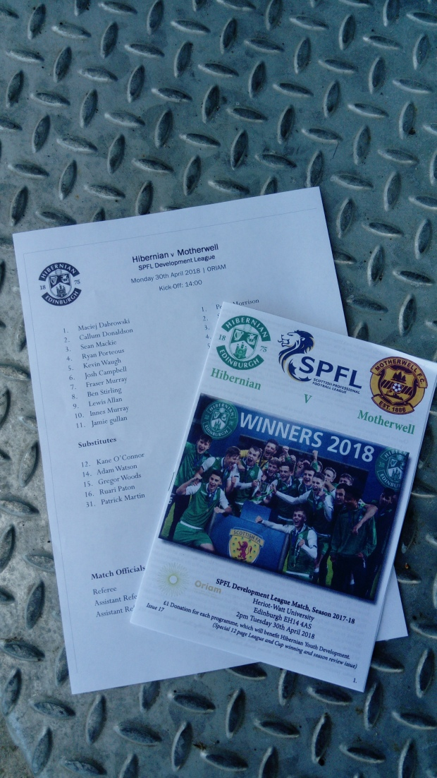 Hibs Commemorative programme