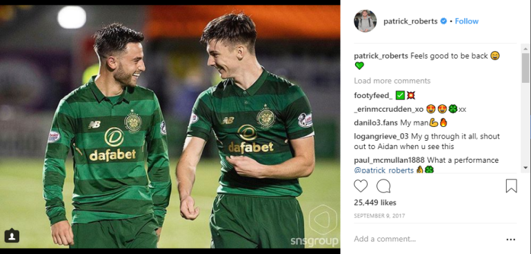 Patrick Roberts Feels Good To Be Back